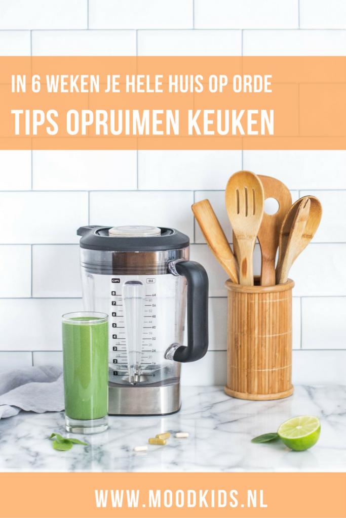 Professioneel organizer Lianne geeft je tips hoe snel en efficient keuken opruimen in zijn werk gaat. Begin vandaag nog! #opruimen #organiseren