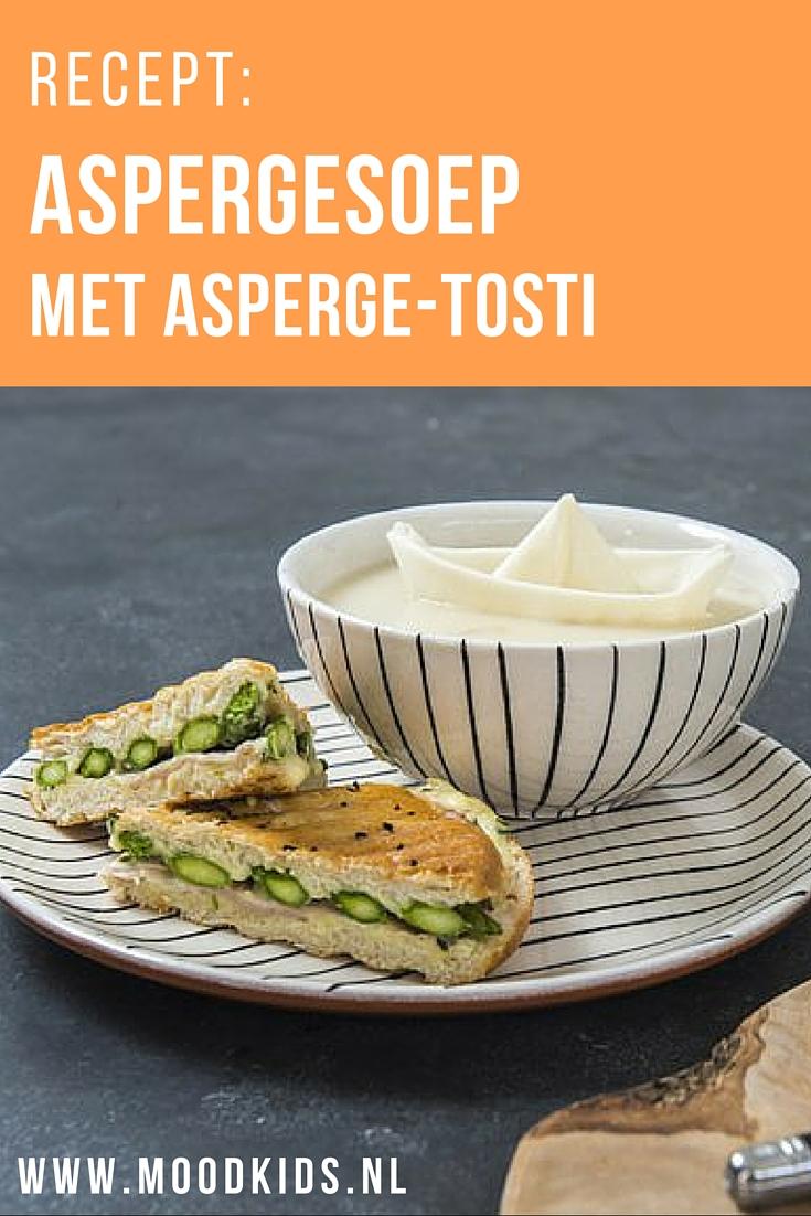 Een lekkere lunch met asperges die bestaat uit een aspergesoep en een tosti met asperges. Lekker voor jou én voor de kinderen! Bekijk hier het recept.