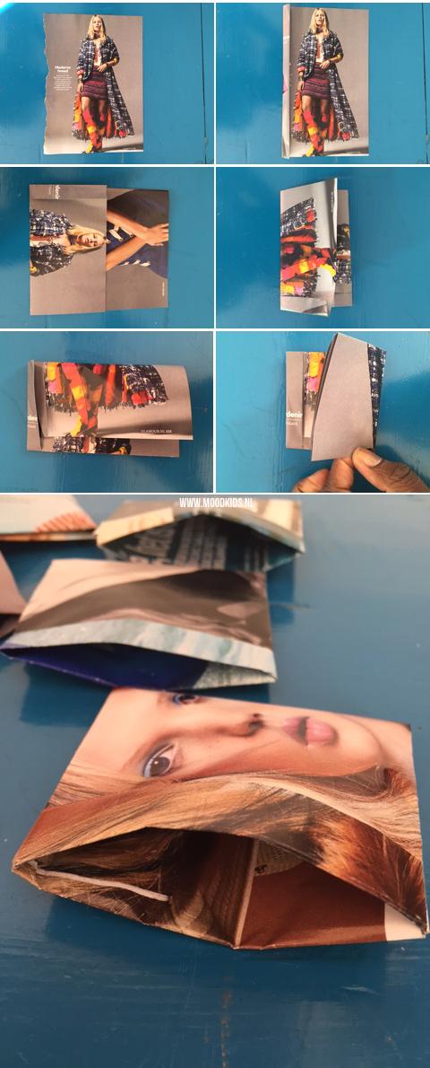 zakje vouwen van papier