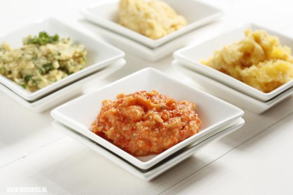 hummus groente geroosterde paprika
