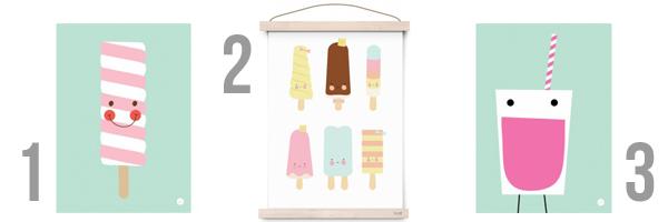 posters kinderkamer ijsjes