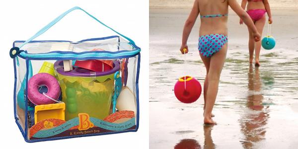 speelgoed aan het water