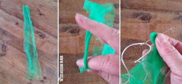 stap voor stap tassel tuinslinger maken