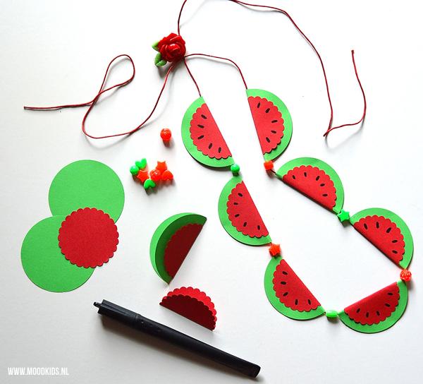 watermeloen ketting maken