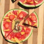Gezonde snack met watermeloen
