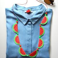 Zomerse watermeloenketting van papier