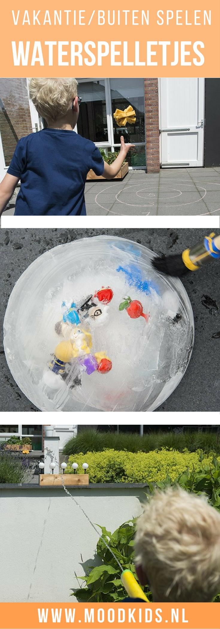 Zomers weer vraagt om waterspelletjes. Tenminste hier thuis wel. Op zoek naar inspiratie? Ping pong schieten, bootjes maken, ijsplaneet en meer...