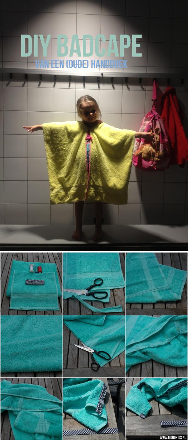 Handdoek Cape Hema.Stap Voor Stap Zelf Een Badcape Maken Van Een Handdoek
