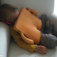Slapen? Soms doen kids het overal