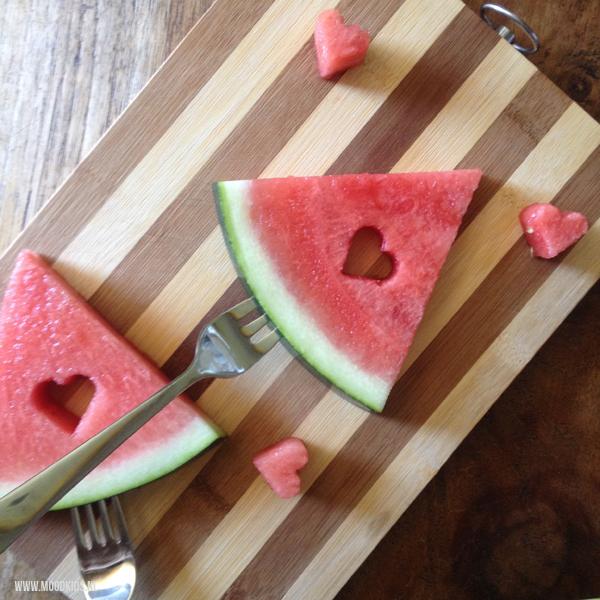 watermeloen op stokje