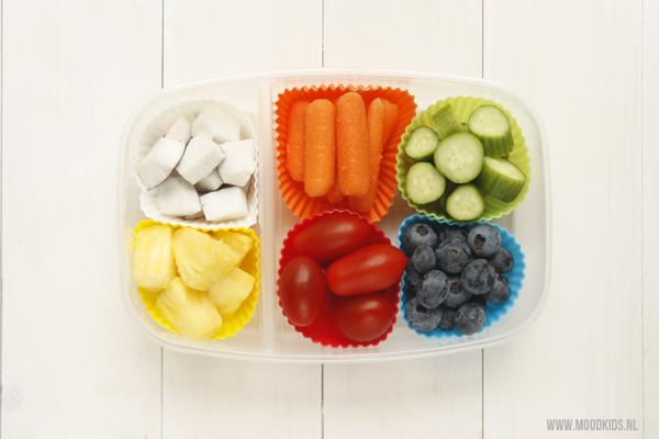 gezonde lunchttrommel 1 groente en fruit