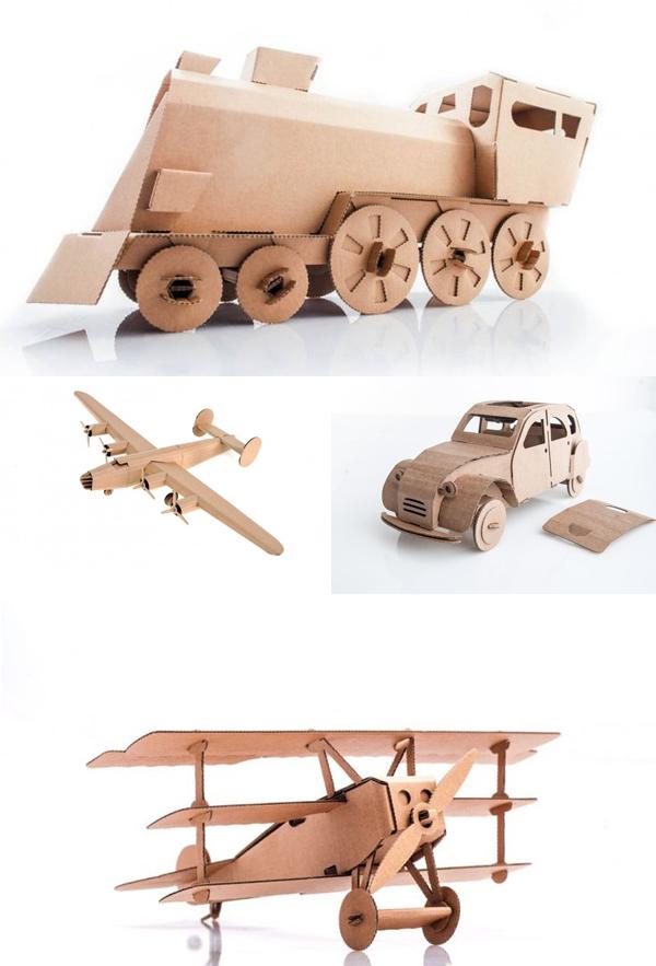 Diy met karton kartonnen speelgoed