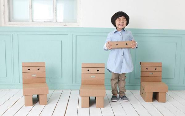 diy met karton happy chairs