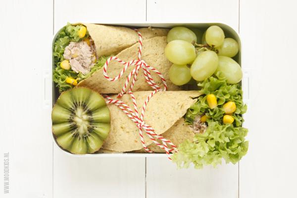 Een school lunch zonder brood