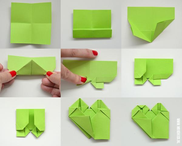 origami klavertje vier vouwen