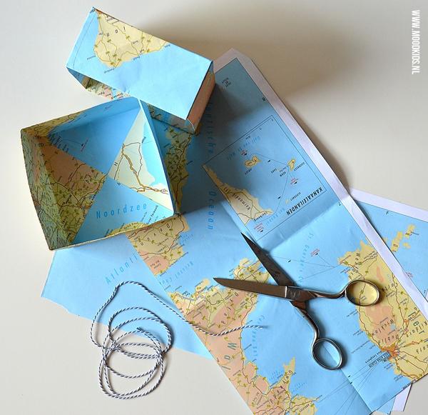 origami doosje met deksel vouwen