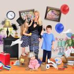 Hoe meer kids, hoe groter de rommel in huis