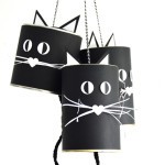 Kattenbellen knutselen voor Halloween