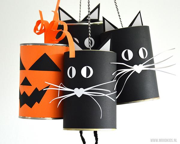 kattenbellen knutselen voor halloween moodkids