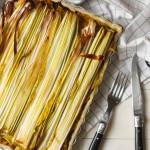 Prei Kerrieboomstammetjes taart met gehakt uit de oven