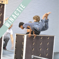 Trampoline springen en freerunning bij Vrog
