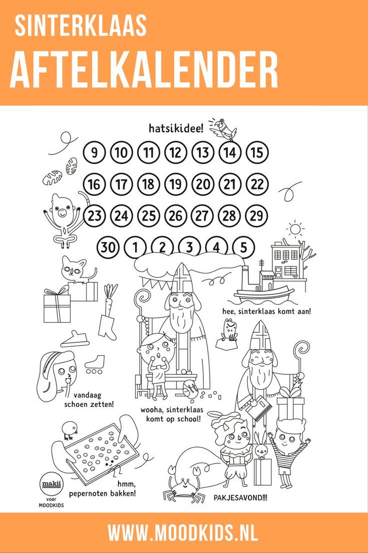 Makii maakte exclusief een hele toffe gratis Sinterklaas aftelkalender waar je kind de belangrijkste gebeurtenissen van deze periode kan bijhouden. Van aankomst van de sint, schoenzetten, pepernoten bakken tot pakjesavond. De gratis download vind je hier.