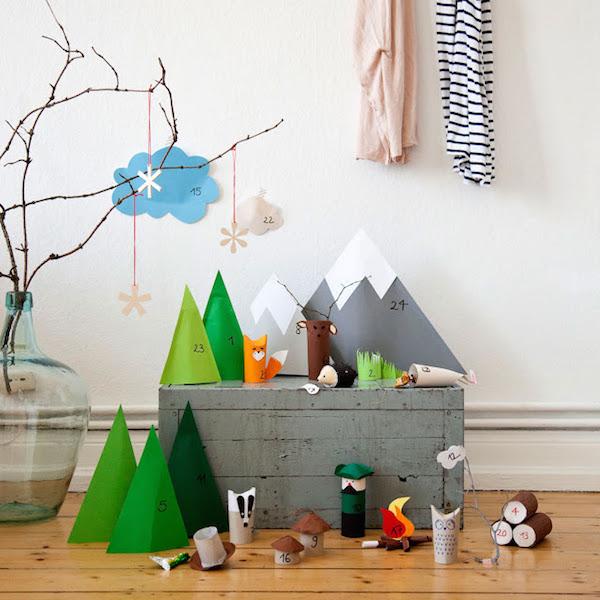 DIY Advent Kalender voor kinderen bos