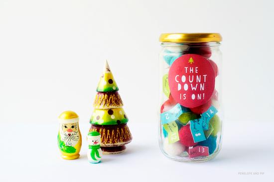 DIY Advent Kalender voor kinderen in een potje