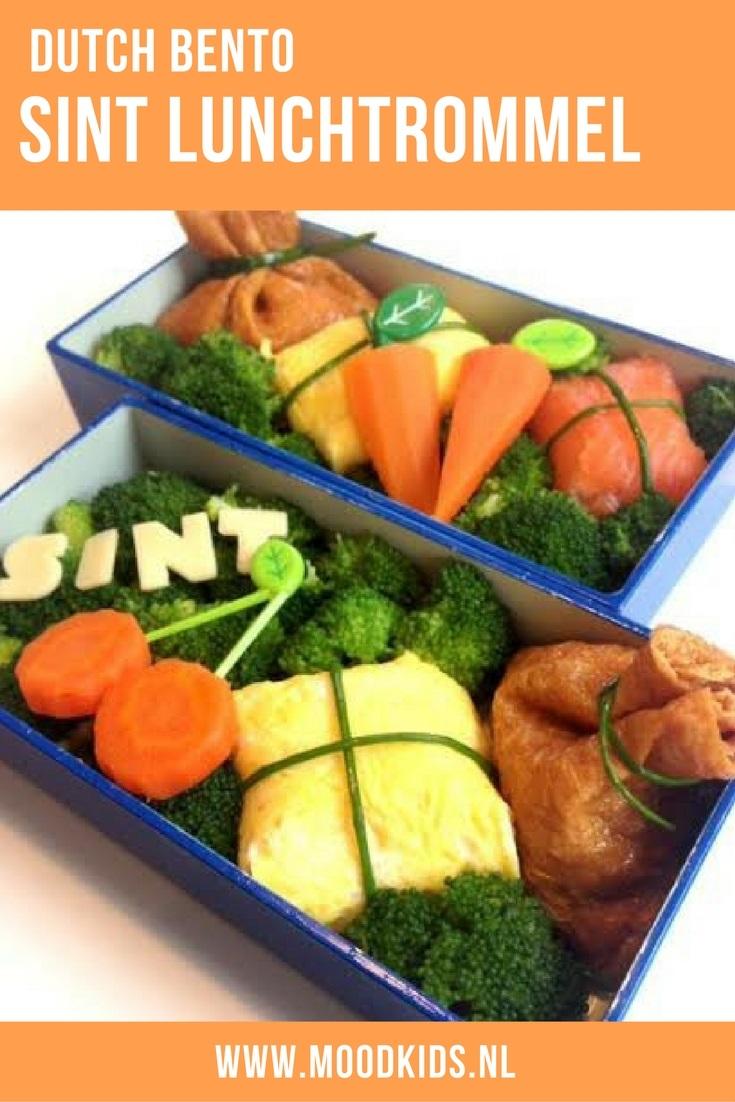 Op zoek naar inspiratie om de lunchtrommel van je kind te vullen in de Sinterklaas tijd? Bekijk deze sint bento eens. Gezond, lekker en leuk! #dutchbento