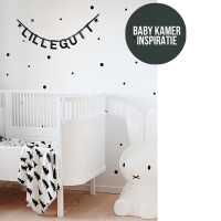 Sfeervol zwart wit in de babykamer