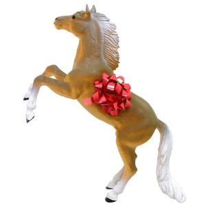 paard met strik erom