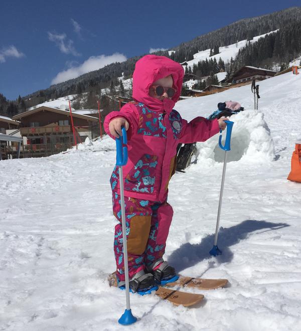 skien met kleine kinderen