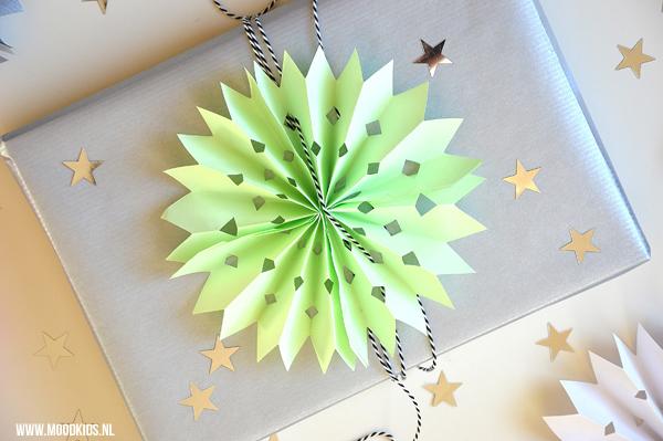 Zeer sterren van papier maken voor op je cadeautjes #NK02