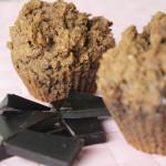 Gezonde ontbijtmuffins met chocolade