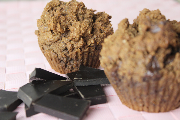 gezonde ontbijtmuffins paleo met chocolade
