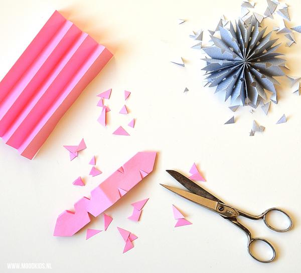 sterren van papier knippen