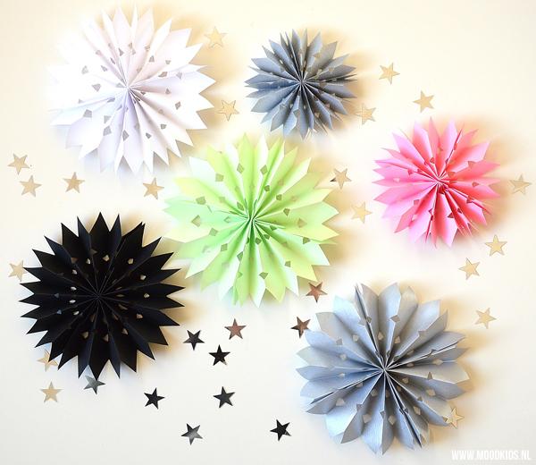 sterren van papier vouwen