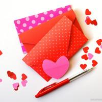 Tijd voor hartjes: vouw een hartjes envelop