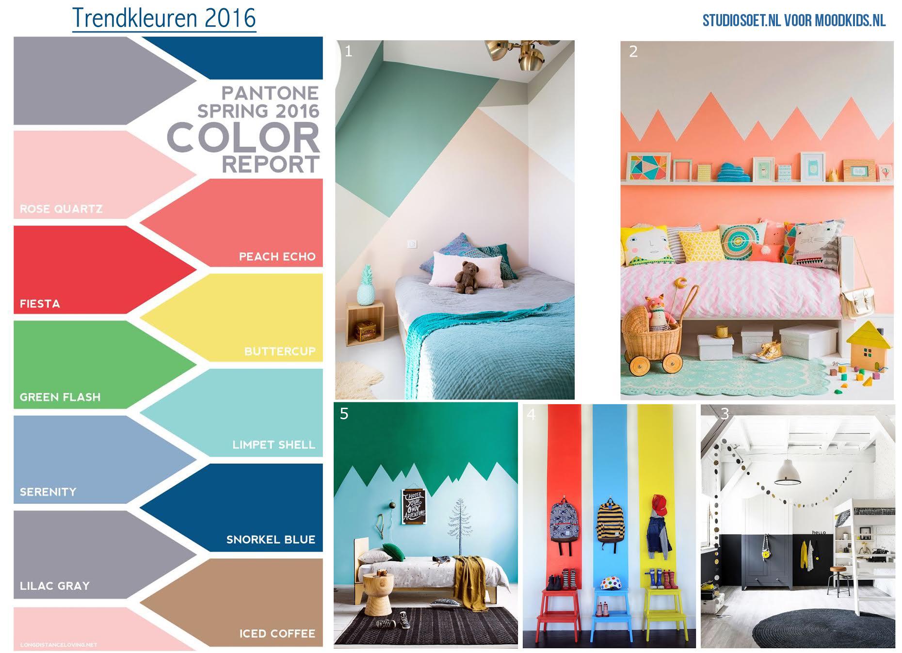Verf inspiratie kinderkamer en de trendkleuren van 2016 moodkids for Kleur kinderkamer