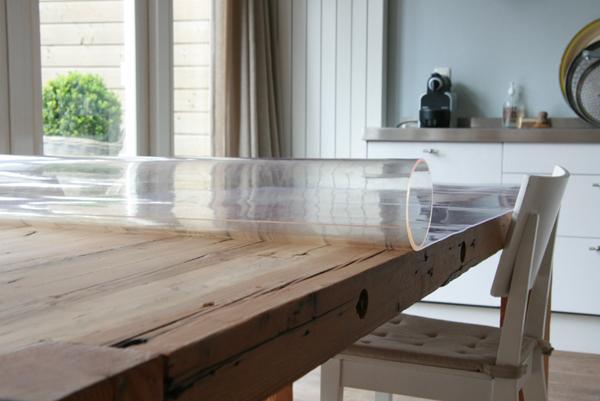 Met tafelziel bescherm n pimp je je tafel moodkids - Transparante plastic tafel ...