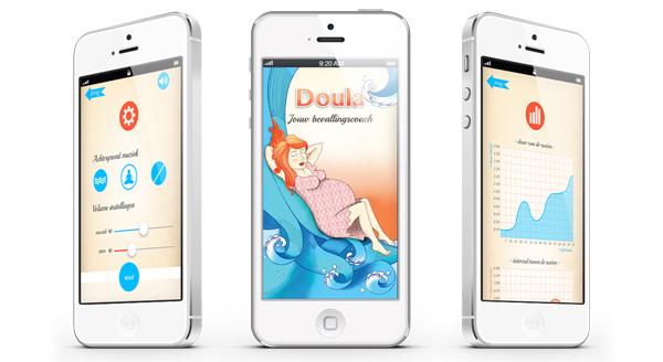 doula, bevallingsapp, bevallen met app