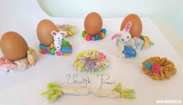 Laat je kinderen zelf een eierdopje maken voor pasen. Met brooddeeg maak je de leukste creaties. We hebben 4 leuke ideeën op een rij gezet.