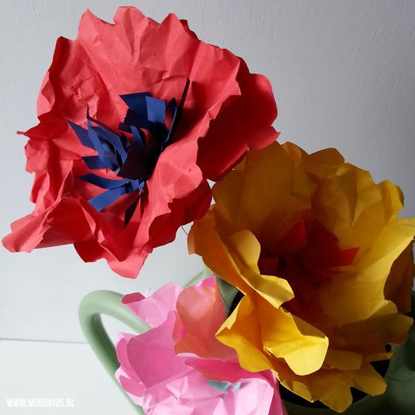flower power, zelf bloemen maken van papier