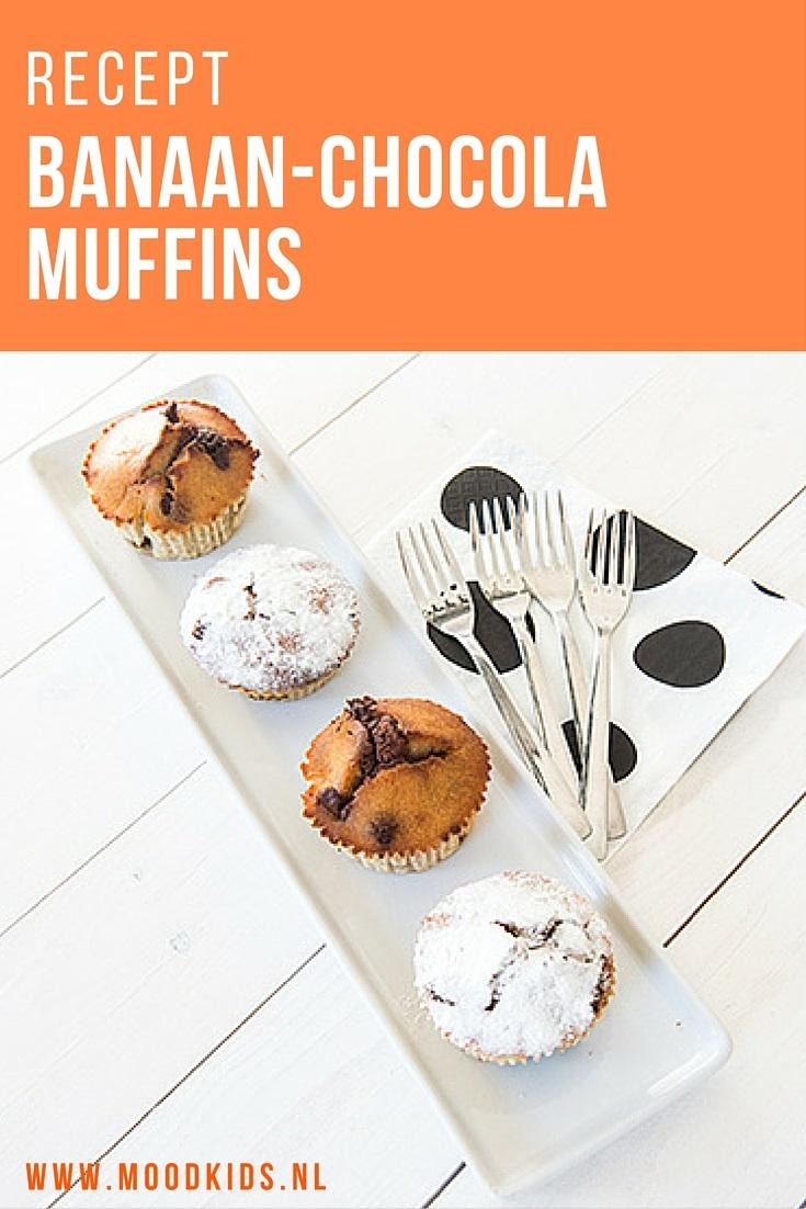 Samen bakken met je kinderen? Hier een recept voor heerlijke chocola banaan muffins. Een beetje klef zoals bananenbrood en met een bite van chocolade. Binnen no-time waren ze hier thuis op. Kijk voor het recept op www.moodkids.nl