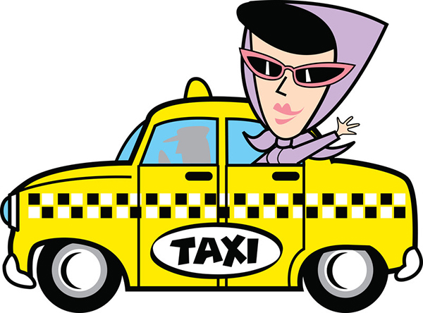 moeder als taxichauffeur