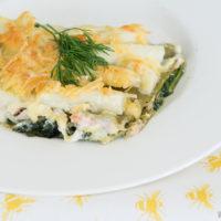 Lasagne met asperges, spinazie en zalm