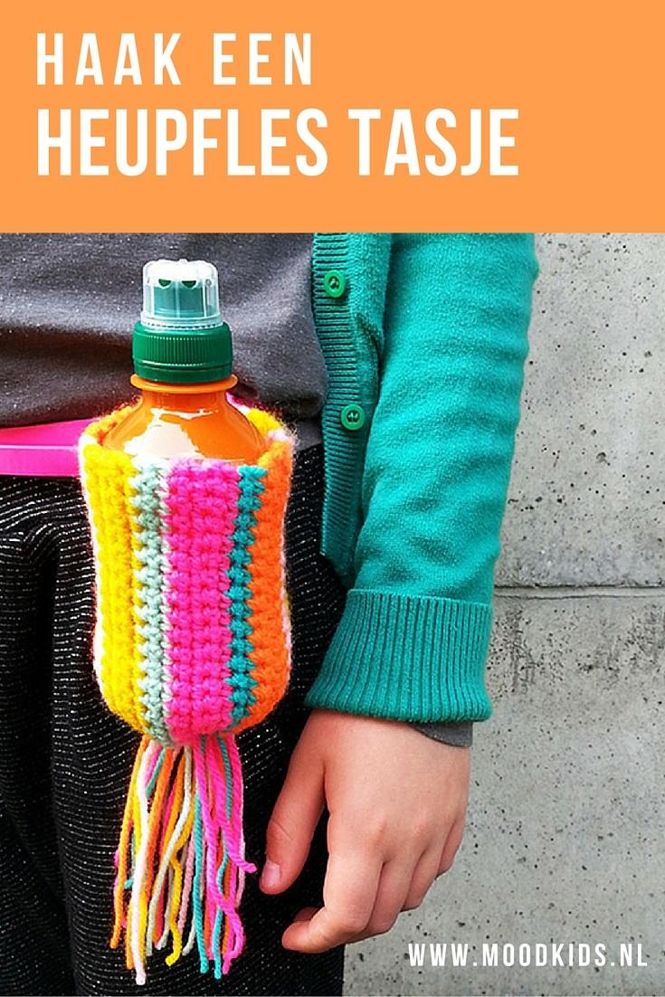 Een tasje voor je (water)flesje is heel handig. Bijvoorbeeld voor de avondvierdaagse. Weet je zeker dat je kind genoeg drinkt. Liza haakte een tasje voor aan je riem. Hip en handig! Bekijk de stap voor stap omschrijving met foto's hier.