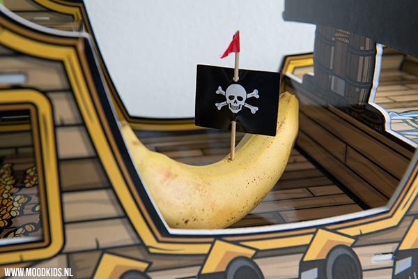 Piraten traktatie met banaan