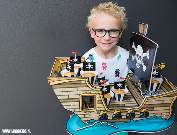piratenboot traktatie, piraten traktaties