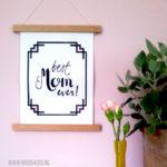 DIY: houten posterhanger